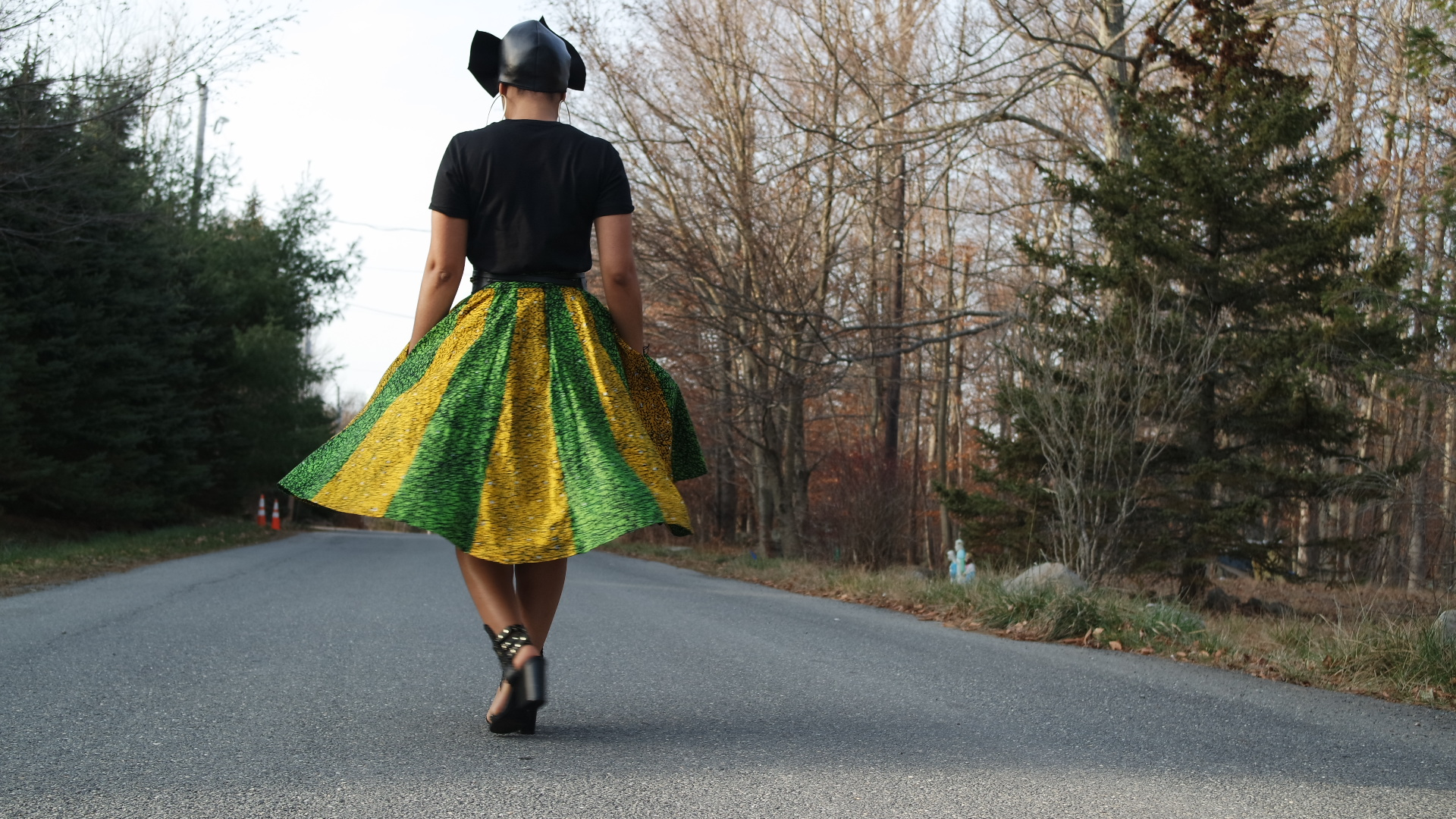Ankara Skirt with Pockets