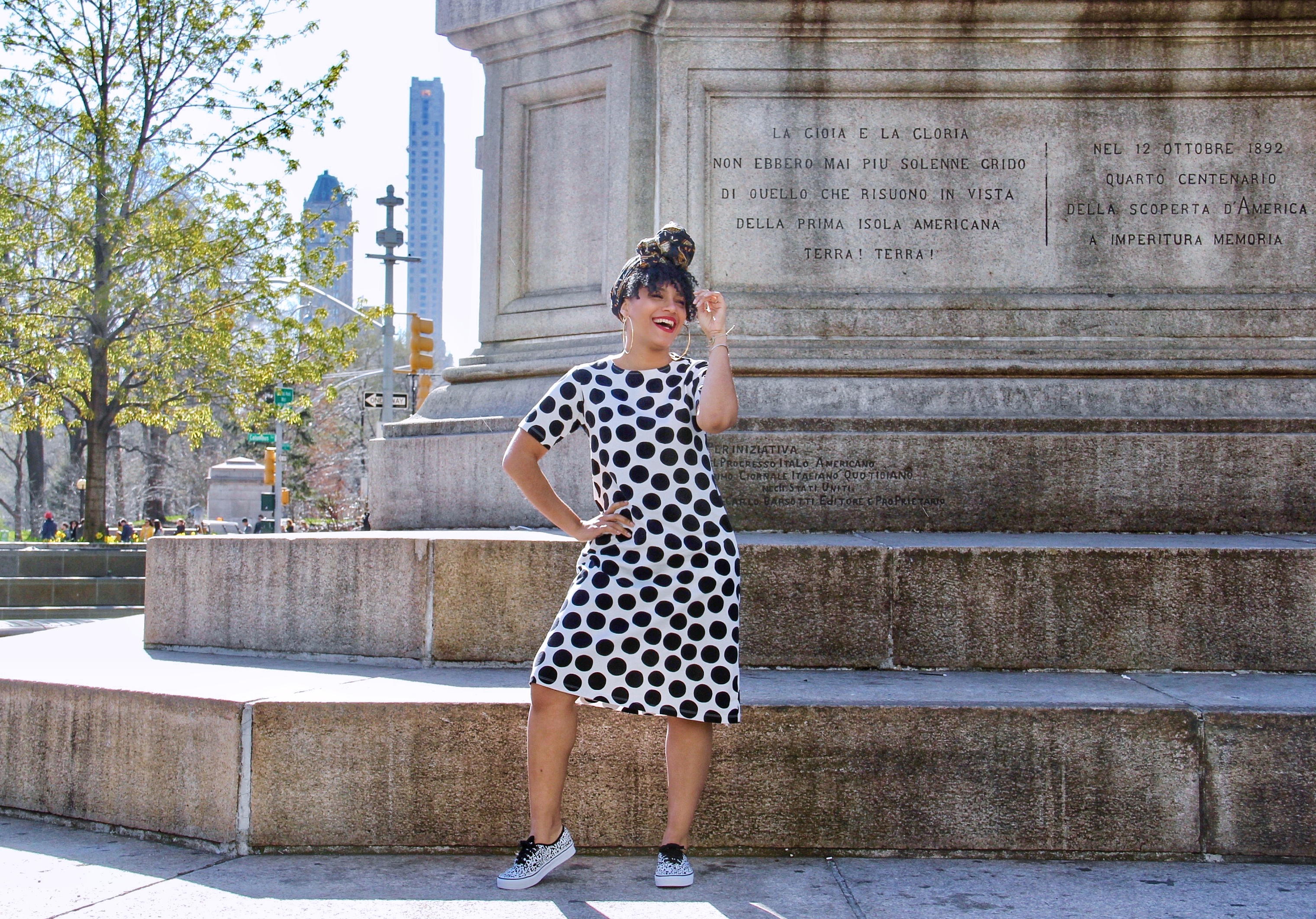 Uniqlo Marimekko Polka Dot Dress