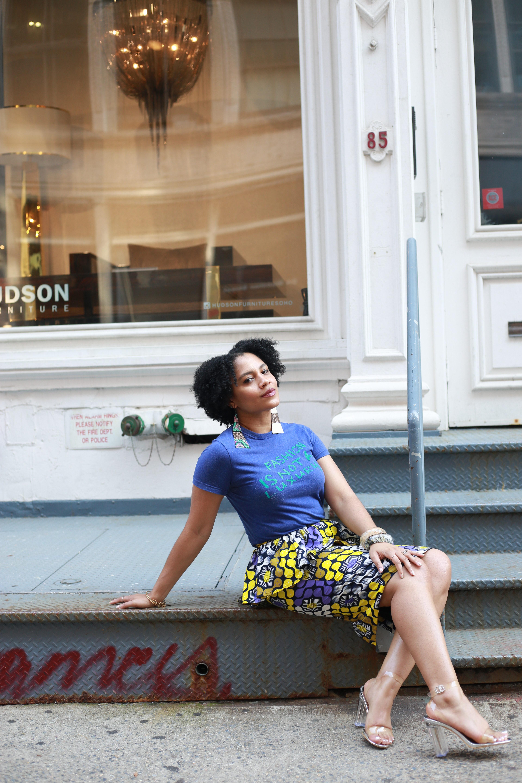 Ankara Peplum Skirt